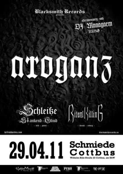 Record Release Party mit Arroganz